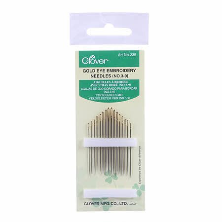 Gold Eye Embroidery Needles Size 3/9, Notion, Clover, [variant_title] - Mad About Patchwork