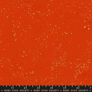 Speckled in Warm Redvby Rashida Coleman-Hale of Ruby Star Society for Moda, Designer Fabric, Ruby Star Society, [variant_title] - Mad About Patchwork