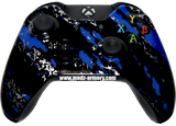 Blue Splatter Xbox One Custom Controller