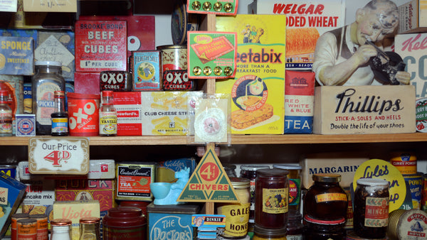 1950s packaging at Bygones