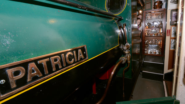 Steam engine named after Patricia Cuming at Bygones