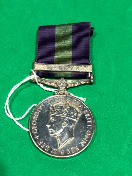 General Service Medal 1918 George VI Clasp Malaya