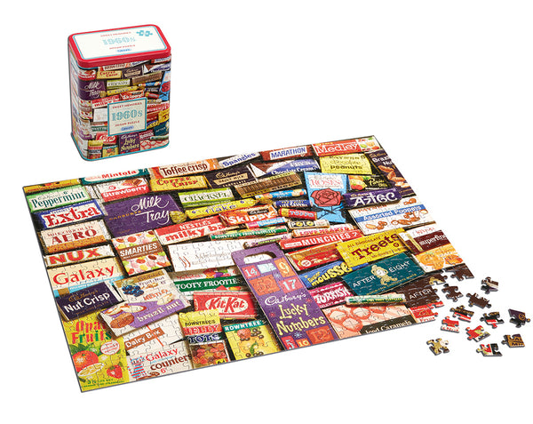 1960s Sweet Memories Jigsaw Tin