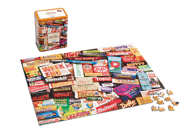 1970s Sweet Memories Jigsaw Tin