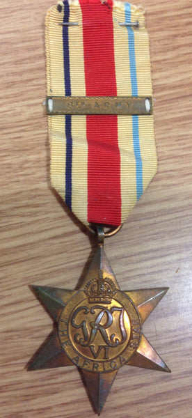 Genuine Africa Star 8th Army Clasp Medal