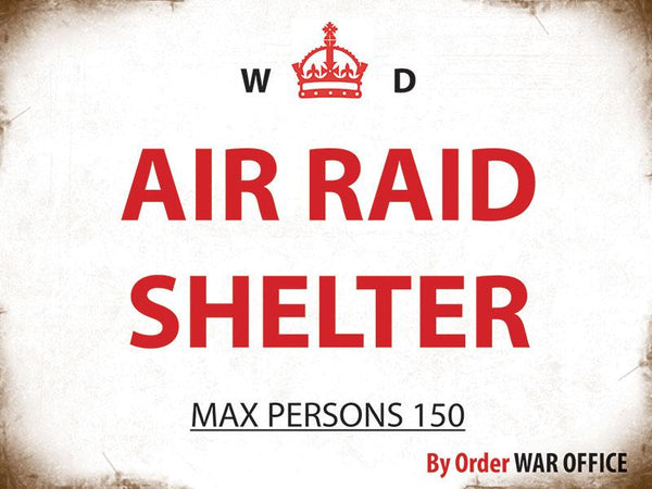 Air Raid Shelter Metal Sign