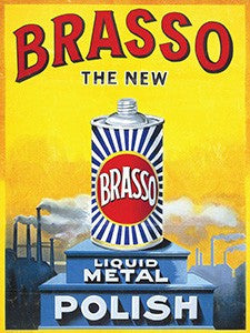 Brasso Retro Advertising Metal Sign (30cmx40cm)