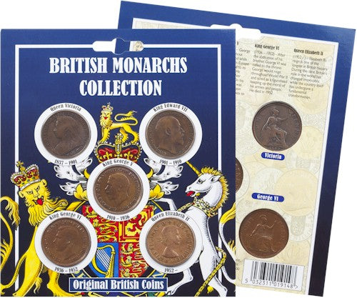 Original British Monarchs Coin Collection
