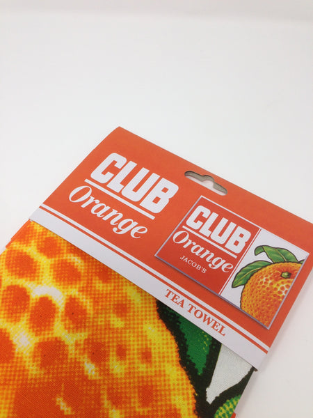 Club Orange Tea Towel