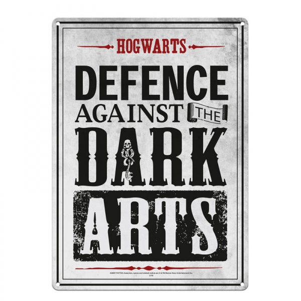 Harry Potter Defence Against the Dark Arts Tin Sign