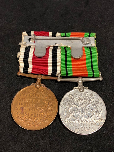 Defence Medal and Special Constabulary Long Service Pair