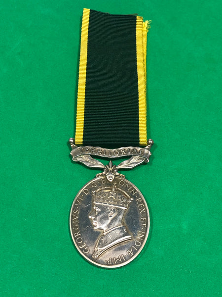 Efficiency Medal Clasp Territorial George VI