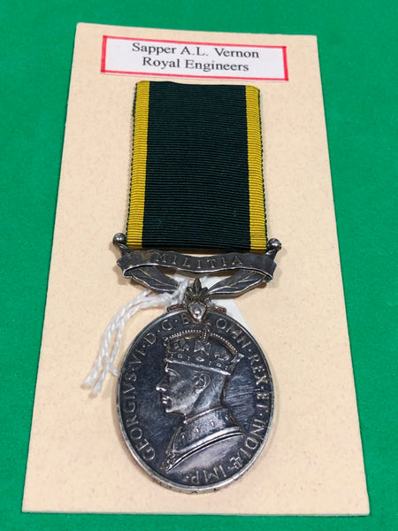 Efficiency Medal Clasp Militia George VI