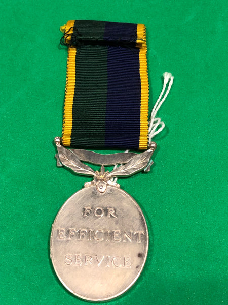 Efficiency Medal Clasp T & A.V.R Elizabeth II