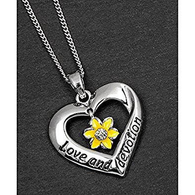 Love and Devotion Daffodil Necklace