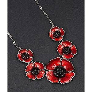 Five Poppy Necklace