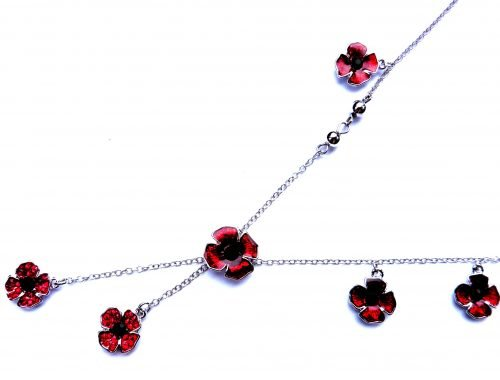 Poppy Dangle Charm Necklace