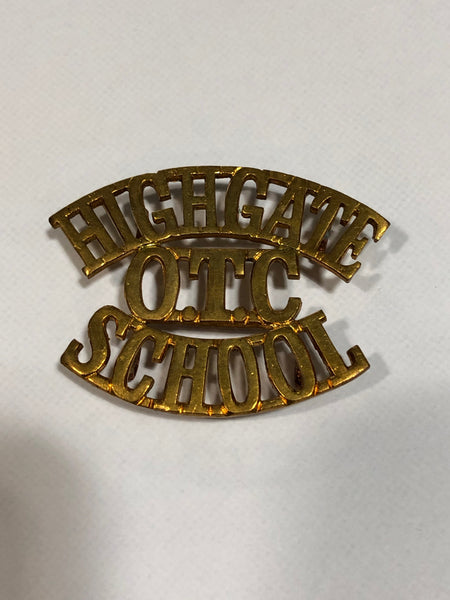 Highgate O.T.C. School Shoulder Title