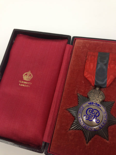 Genuine Imperial Service Medal Boxed