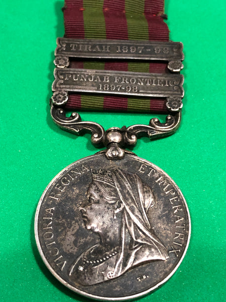 India General Service 1895 2 Clasps