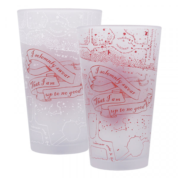 Harry Potter Marauder's Map Glass