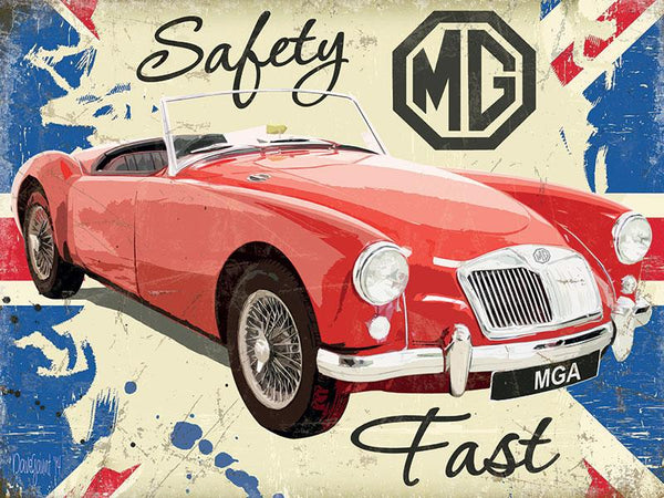MG Large Metal Sign