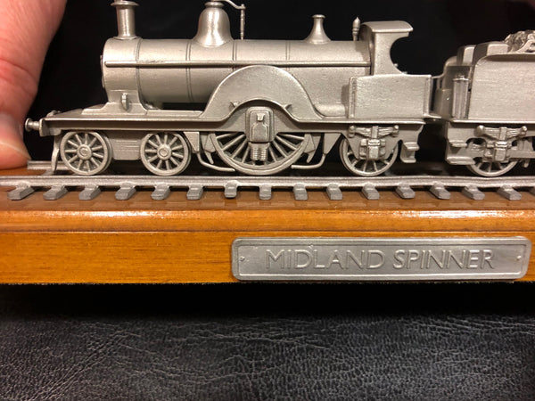 Model Midland Spinner Steam Train on plynth