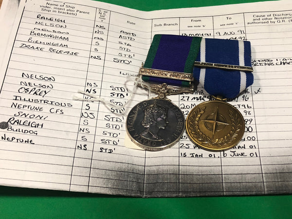 Campaign Service Medal Clasp Northern Ireland and NATO Service Medal