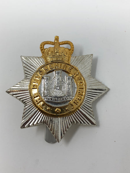 Genuine Devonshire Regt. Other Ranks Anodised Cap Badge