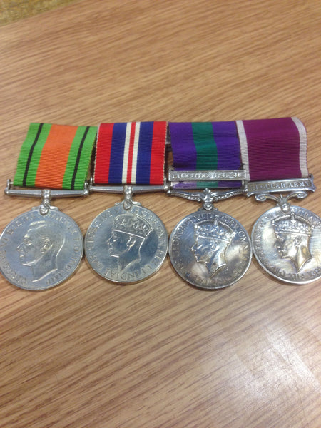 Genuine Royal Army Dental Corps Medal Group and Original Certificate of Service