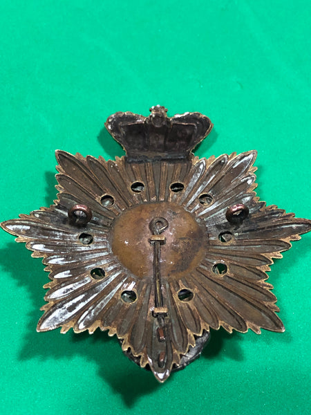 Royal Marine Light Infantry Victorian Officer's Shako Plate 1866-78