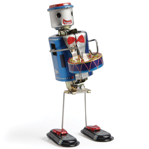 Robot Drummer Traditional Tin Toy