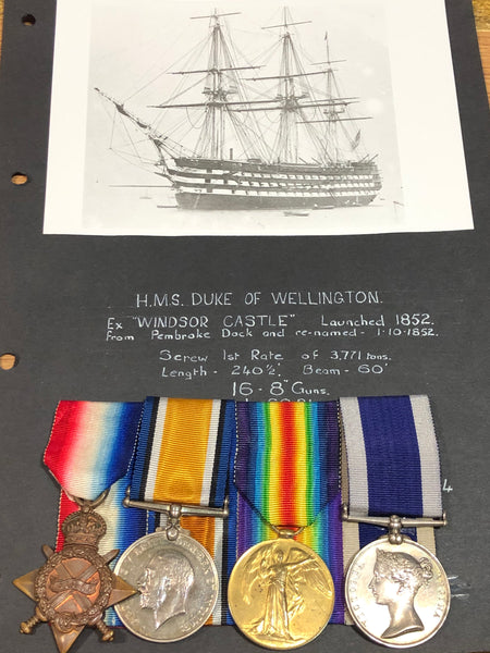 Royal Navy WWI Trio & Victorian Long Service Group