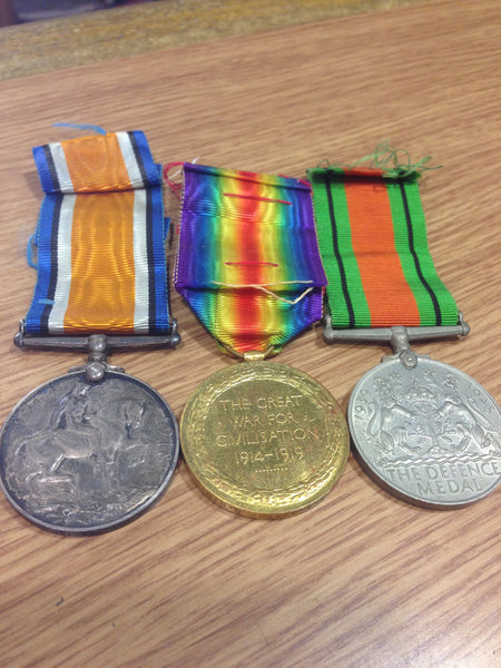 Genuine WWI Pair and WWII Defence Medal
