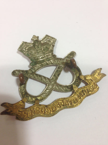 Genuine Victorian South Staffordshire Regt. Cap Badge