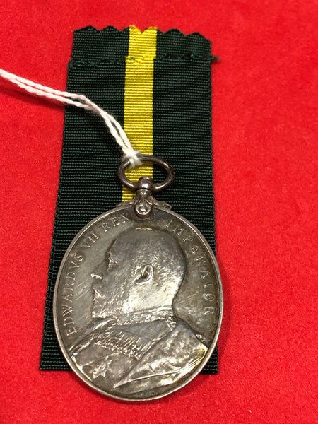 Territorial Force Efficiency Medal 1908 EVII