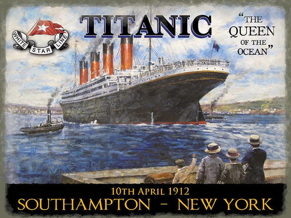 Titanic Queen of the Ocean Large Metal Sign