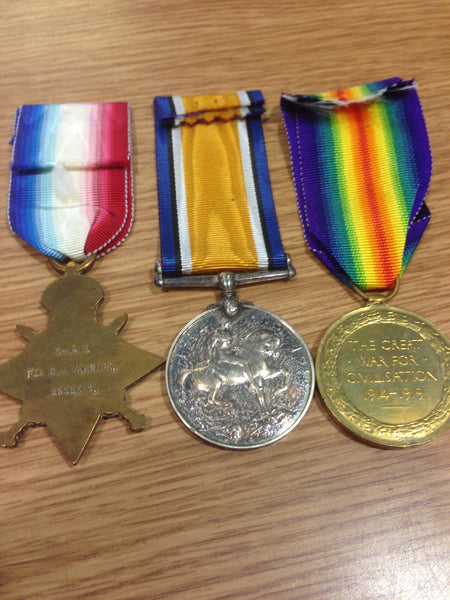 Genuine WWI Trio of Medals