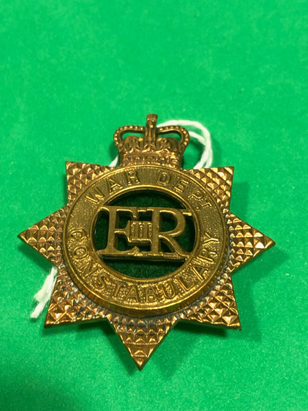 War Department Constabulary ERII Cap Badge