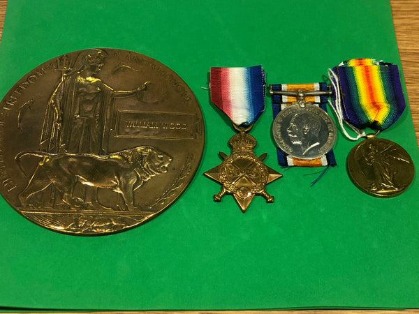 1914-15 Trio and Plaque Seaforth Highlanders