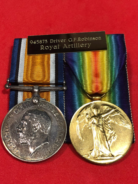WWI Pair Royal Artillery