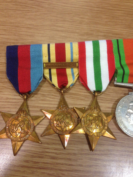 Genuine WWII Campaign Medal Group