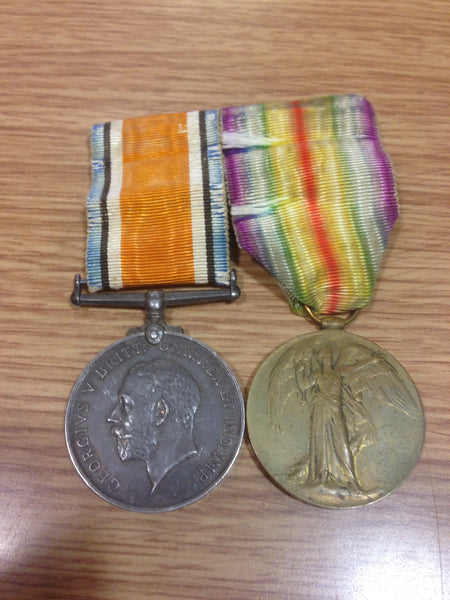 Genuine WWI Pair Mounted for Wear Essex Regt.