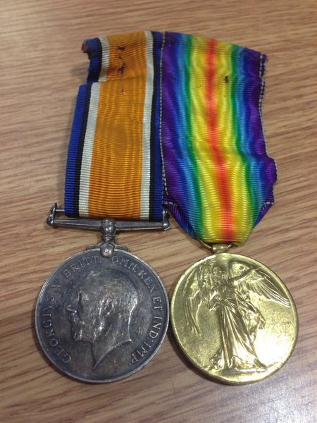 Genuine WWI War and Victory Medal Pair
