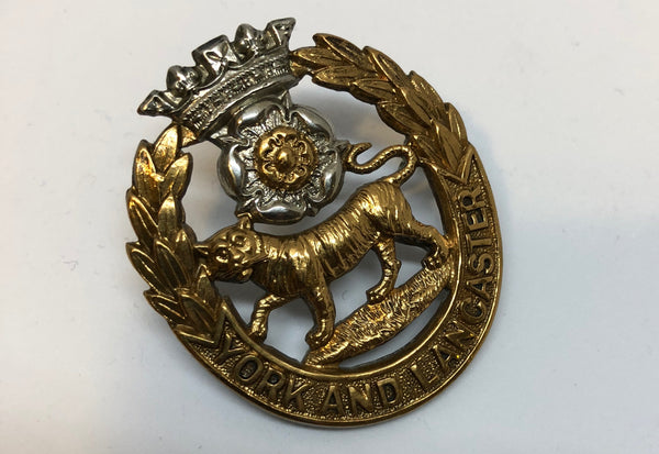 Genuine Victorian/Edwardian York and Lancaster Cap Badge