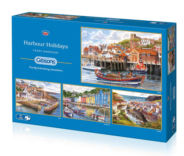 Harbour Holidays 4x500pc Jigsaw Puzzles