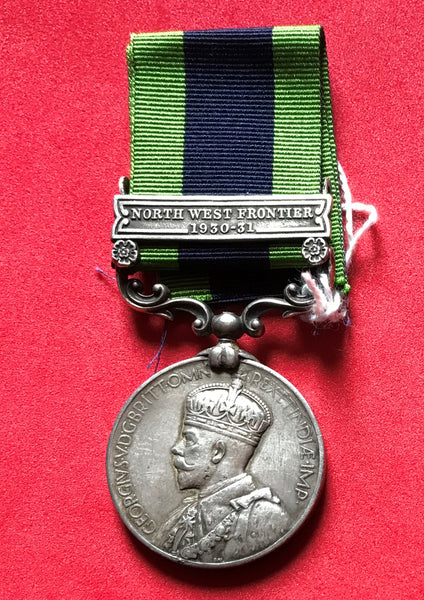 India General Service Medal 1908 clasp North West Frontier 1930-31