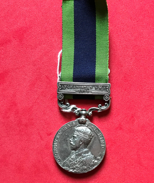 India General Service medal 1908 clasp Afghanistan