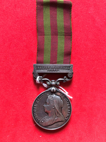 India General service medal 1895 clasp Relief of Chitral 1895