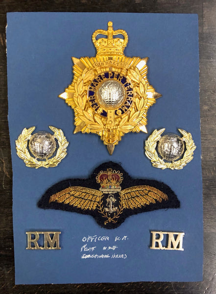 Royal Marine Officers helmet plate and insignia post 1953 to date